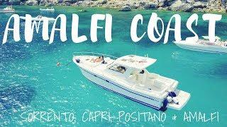 AMALFI COAST TRAVEL VLOG PART 2- Sorrento, CAPRI boat tour, Positano & Amalfi w DJI MAVIC PRO