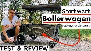 Starkwerk Bollerwagen (faltbar mit Dach) Test & Review