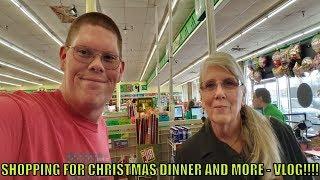 SHOPPING FOR CHRISTMAS DINNER AND MORE - VLOG!!!!