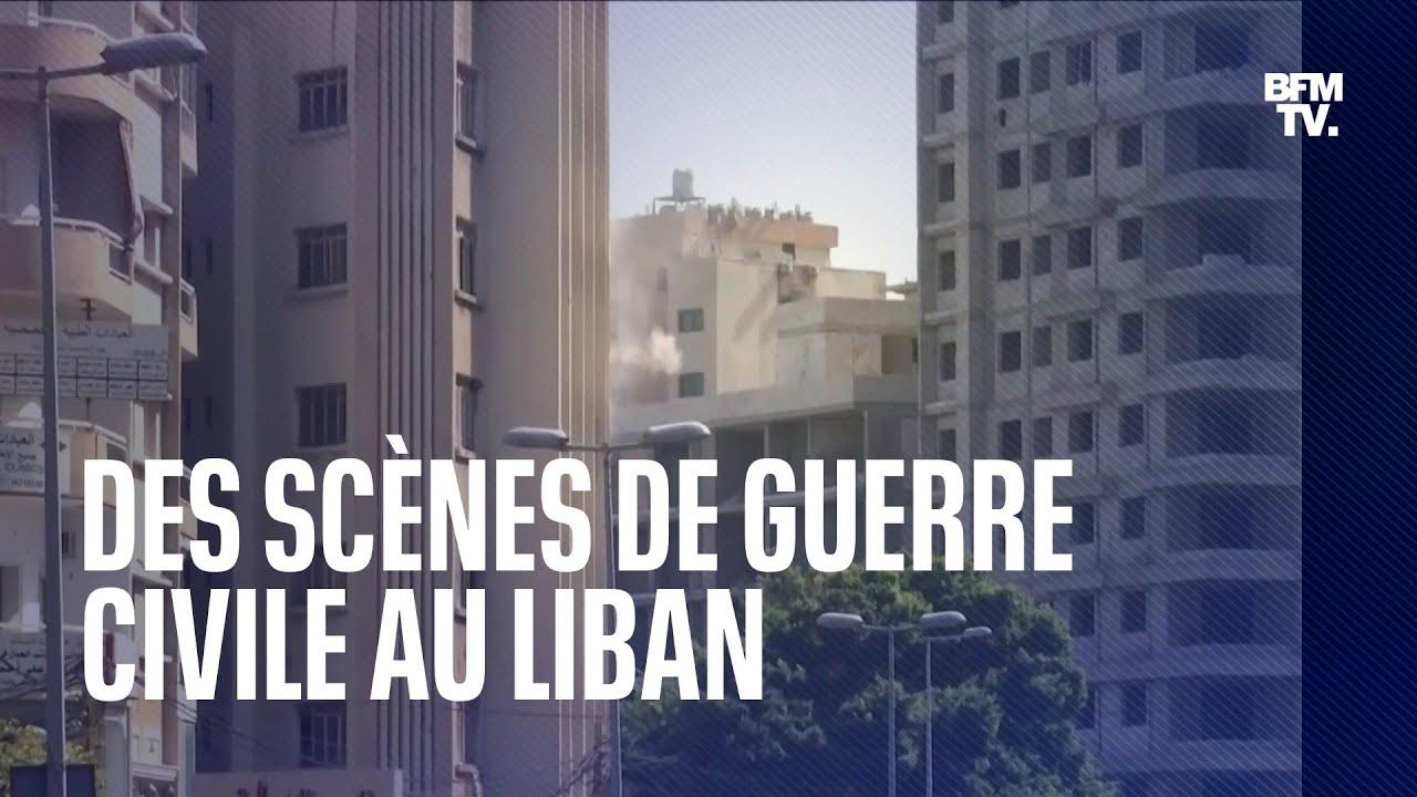 Des scènes de guerre civile se sont déroulées au Liban ce jeudi