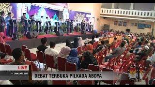 PERTANYAAN DARI PANELISI Debat Calon Bupati-Wakil Bupati Abdya