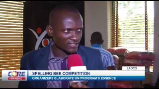 Core TV News Extract focusing on the Spelling Bee