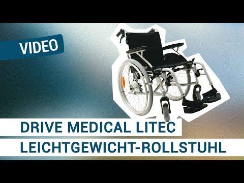 Drive Medical Litec Leichtgewicht-Rollstuhl mit Trommelbremse