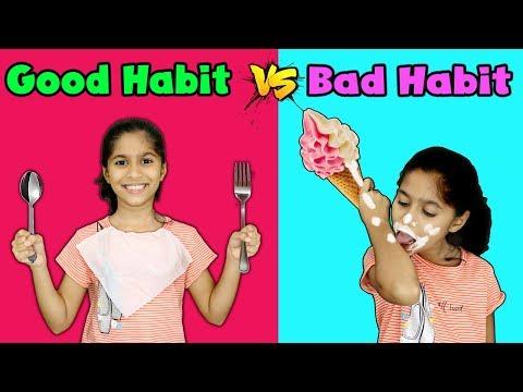 Pari's Good Habit Vs Bad Habit | Funny Kids Video | Pari's Lifestyle