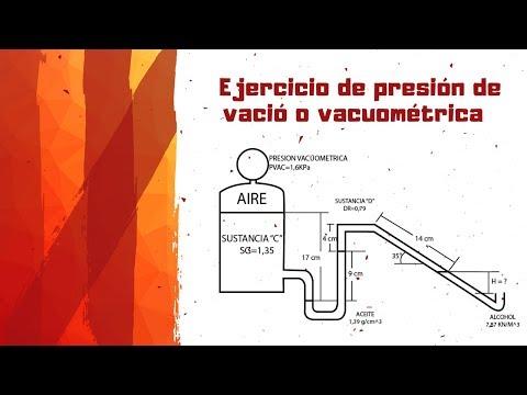 💡Presión de vació EJERCICIOS►Presión vacuométrica