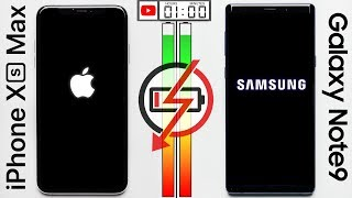 Apple iPhone XS Max vs Galaxy Galaxy Note9 Battery Test