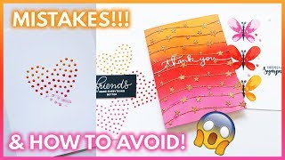 8 Card Making Mistakes To AVOID | DIY Card Tips | Handmade Cards Tutorial