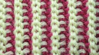 СЕНСАЦИЯ! Двухсторонняя Резинка Тунисское вязание  Tunisian crochet ribbon  узор 79