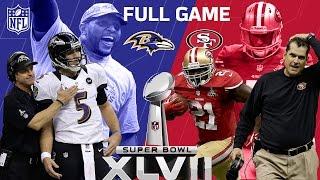 "Super Bowl XLVII: ""The Harbaugh Bowl"" aka ""The Blackout""   Ravens vs. 49ers   NFL Full Game"