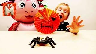 Поделки на Хэллоуин для детей ДАВИД И ЛУНТИК ДЕЛАЮТ ПОДЕЛКИ Мультики Видео для детей HALLOWEEN