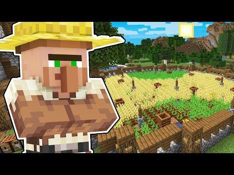 Minecraft Origens #97: EU FIZ UMA FAZENDA PARA OS VILLAGERS FAZENDEIROS!