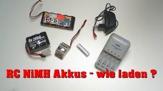 Humppack, NiMH Akkus, aufladbare Batterien... wie lange laden ?  - Darconizer RC