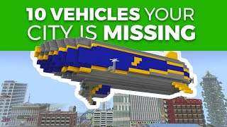 10 Vehicles Your Minecraft City Is Missing