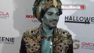 Adam Lambert is a 'Genie' arriving at Fred and Jason's 8th Annual Halloweenie party