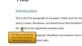 How to insert citations and reference lists with Word