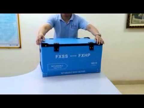 Thao tác mở / đóng hộp nhựa Danpla Box