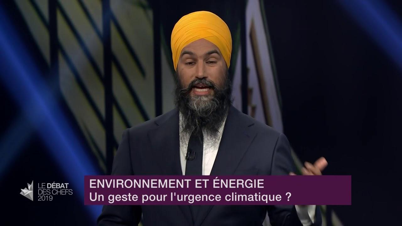 Jagmeet Singh répond à la question d'un citoyen sur les mesures environnementales