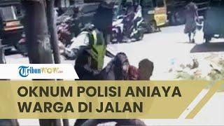 Viral Video Oknum Polisi di Deliserdang Aniaya Warga di Pinggir Jalan, Ibu Korban Teriak Histeris