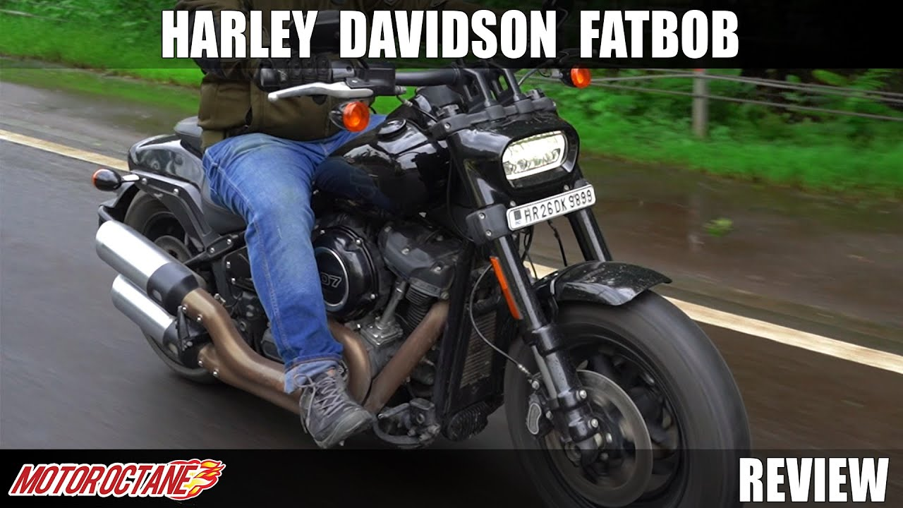 Motoroctane Youtube Video - Harley Davidson Fatbob Review - Power Cruising | Hindi | MotorOctane