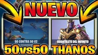 🔴 NUEVA TIENDA Y *NUEVOS MODOS* 50 VS 50 Y THANOS *SKINS GRATIS* +445 WINS! - FORTNITE Battle Royale