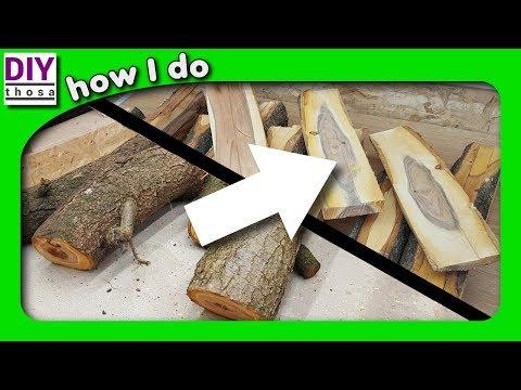 small log to lumber - kleine Stämme zu Brettchen / Bretter