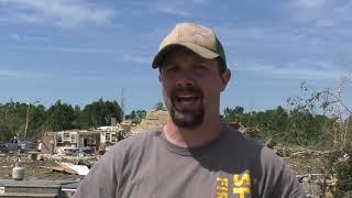 Tornado destroys family's home as relatives shelter in safe room