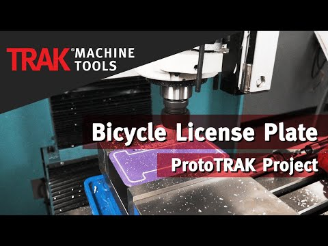 Bicycle License Plate | ProtoTRAK Project
