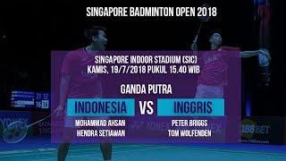 Live Streaming Laga Timnas Ganda Putra Badminton Indonesia Melawan Inggris