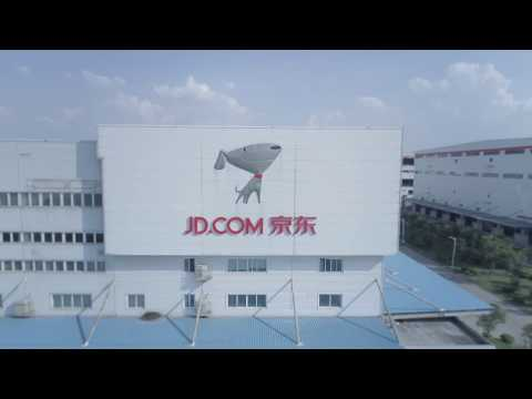 Tai yra e-commerce ateitis, tai yra visiškai automatizuotas sandėlis Šanchajuje