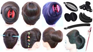 7 easy and cute hairstyle with using hair tools | clutcher hairstyles | updo hairstyles | hairstyle
