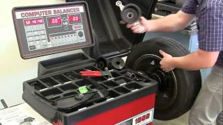 Coats Direct Drive 1000 Wheel Balancer - How To Balance Tires
