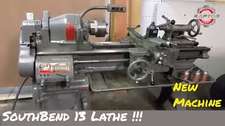 """South Bend 13"""" Lathe Startup and tooling run down"""