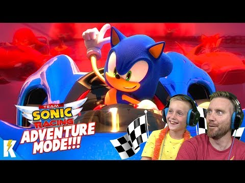 Team SONIC Racing TAG TEAM! (DadCity & Little Flash Play