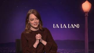 Emma Stone Talks With Harkins Behind The Screens  La La Land   Full Interview