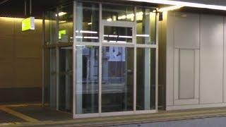 駅エレベーター シースルー JR 西日本旅客鉄道 大阪駅 北陸線