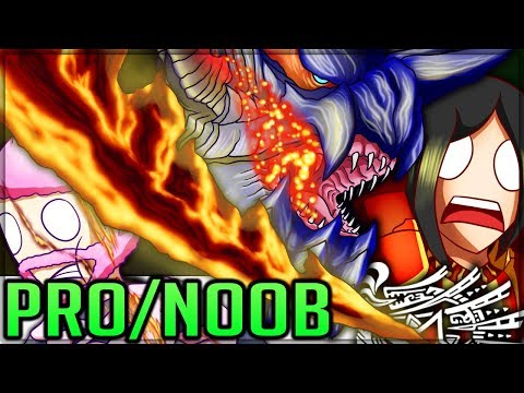 1000 DEGREE GREAT SWORD - Pro and Noob VS Monster Hunter World Iceborne! #mhw #iceborne #proandnoob
