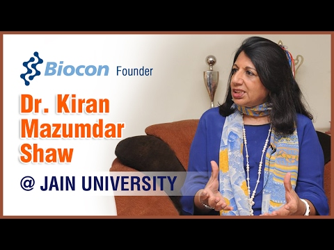 Exclusive Interview with Biocon Founder, Dr. Kiran Mazumdar Shaw - Jain (Deemed-to-be University)