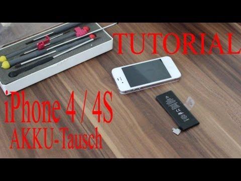 Wie tausche ich  mein Akku im iPhone 4 / 4S *Tutorial* deutsch