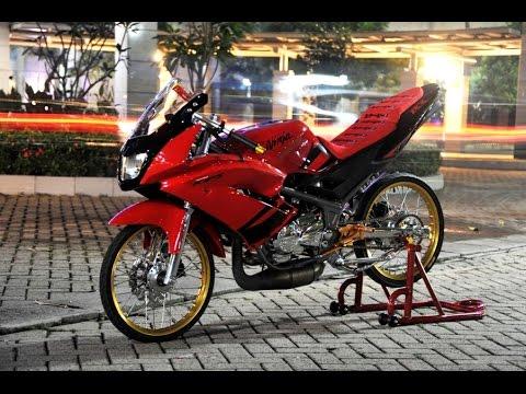Video Motor Trend Modifikasi | Video Modifikasi Motor Kawasaki New Ninja RR 150 Velg Jari-jari Terbaru
