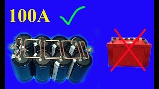 Download Video 12V , 100A using Super capacitors , Amazing idea MP3 3GP MP4