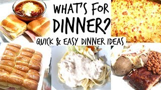 🍴 WHAT'S FOR DINNER   QUICK AND EASY DINNER IDEAS