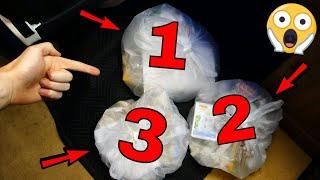 Three Gamestop MYSTERY BAGS!!! Gamestop Dumpster Dive Night #758