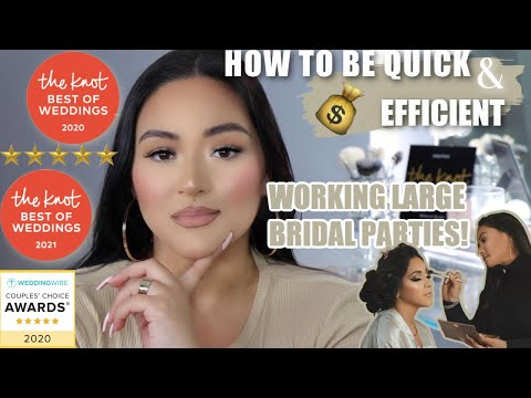 , title : 'Bridal Makeup Artist 15 Tips To Work Quickly and Efficiently Large Bridal Parties!