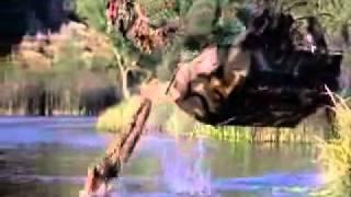 Swamp Thing movie boat jump scene