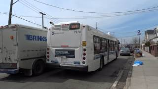 preview picture of video 'MTA New York City Bus: New Flyer XD40 #7278 Q54 @ Metropolitan & Jamaica Avenues!'