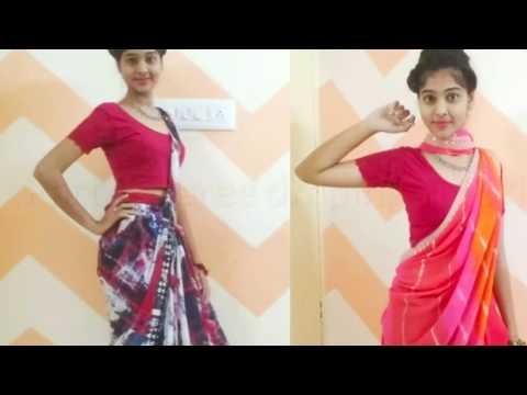 saree draping part 2|Pantstyle saree draping|Dhoti style saree draping Tutorial|Step by step