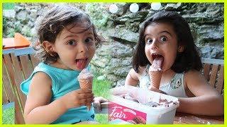 Prenses Rüya ve Prens Yankı ile Bahçede Dondurma Keyfi | Eğlenceli Çocuk Videosu
