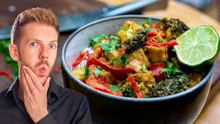 Rotes Thai Curry mit Kokosmilch   Thailändisch kochen lernen