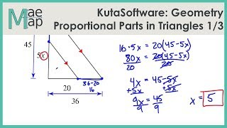 KutaSoftware: Geometry- Proportional Parts In Triangles And Parallel Lines Part 1