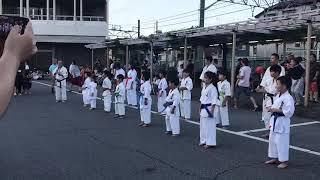 武里駅西口演武会1
